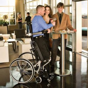 Lifestand semi electric standing wheelchair