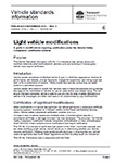 Light vehicle modification nsw