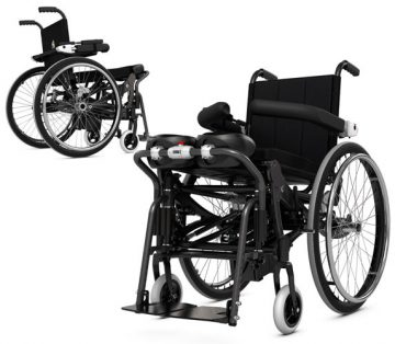 LSE standing wheelchair with innovative design and high-tech materials