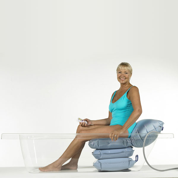 Mangar bathing cushion to help you in and out of the bath tub