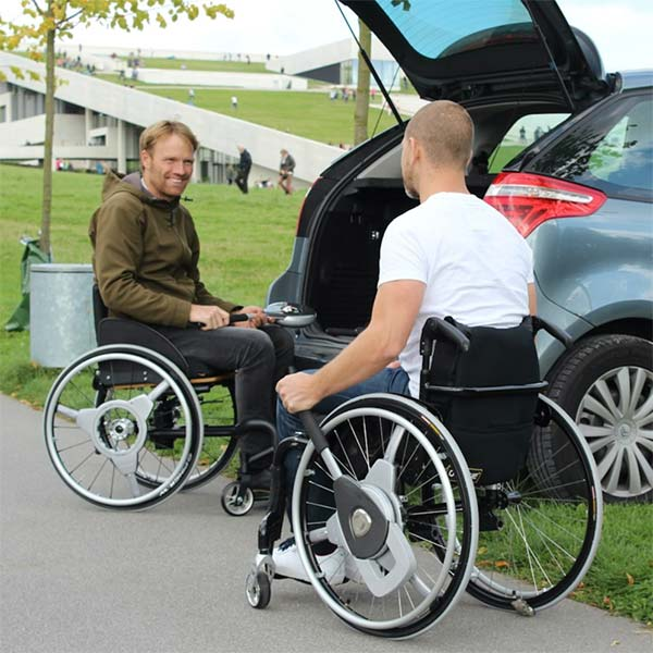 Nudrive Air wheelchair lever propulsion