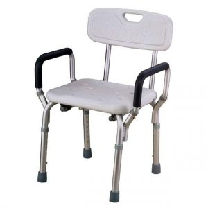A chair used for taking a shower when user balance is limited
