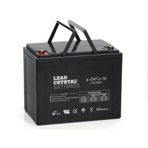 6-evfj-70 lead crystal battery