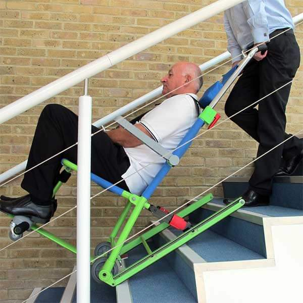 Excel model emergency evacuation chair for stairs