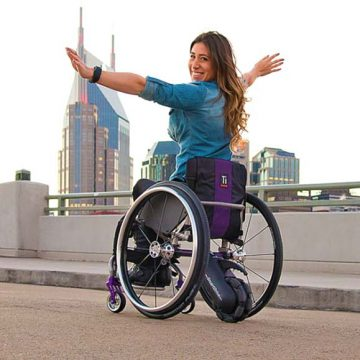 SmartDrive MX2 wheelchair power assistance