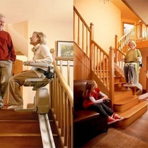 Curved and straight Acorn stairlifts